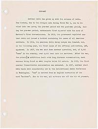 Solberg, Ernst -- A short history of amateur radio