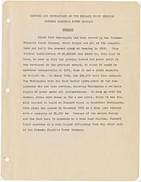 Janes, Charles F. -- History and development of Buzzard Point Station Potomac Electric Power Company