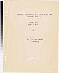 Seaman, Milton L. -- The history and construction of the Jug Bridge near Frederick, Maryland