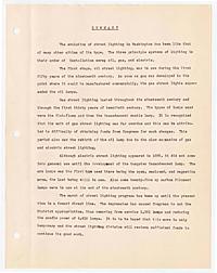 Marans, Allen -- History and development of street lighting in Washington, D. C.