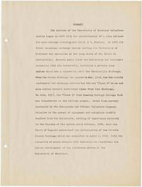 Hamilton, Joseph -- The history and development of the telephone system of the University of Maryland, College Park, Maryland