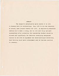 Stuntz, John W. -- Toward a broader education